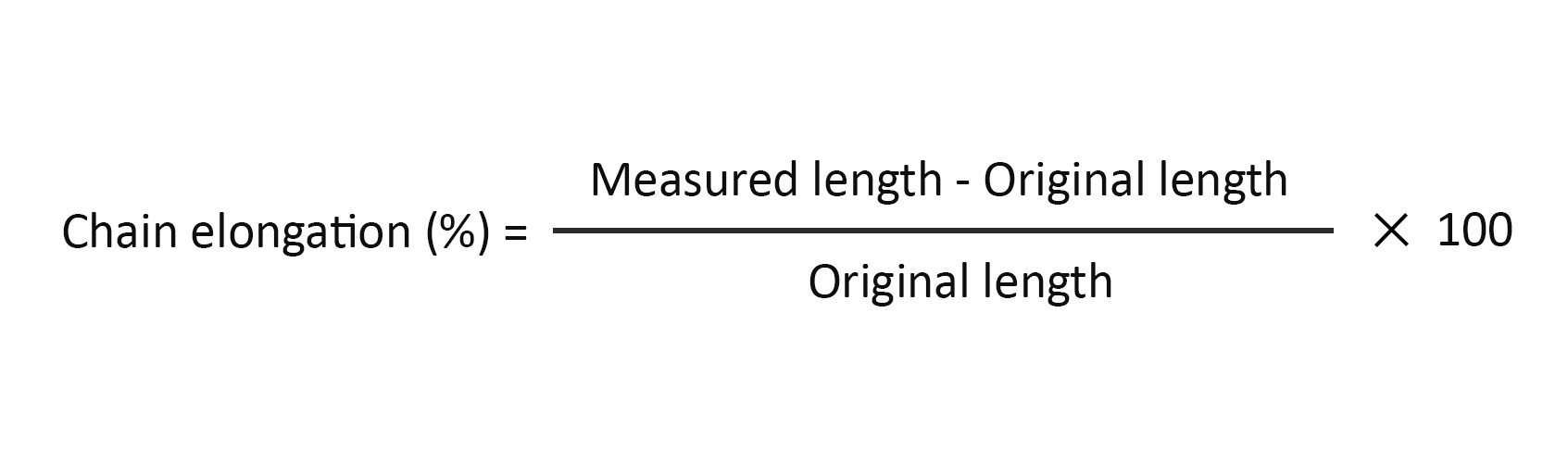 How to calculate Chain Elongation