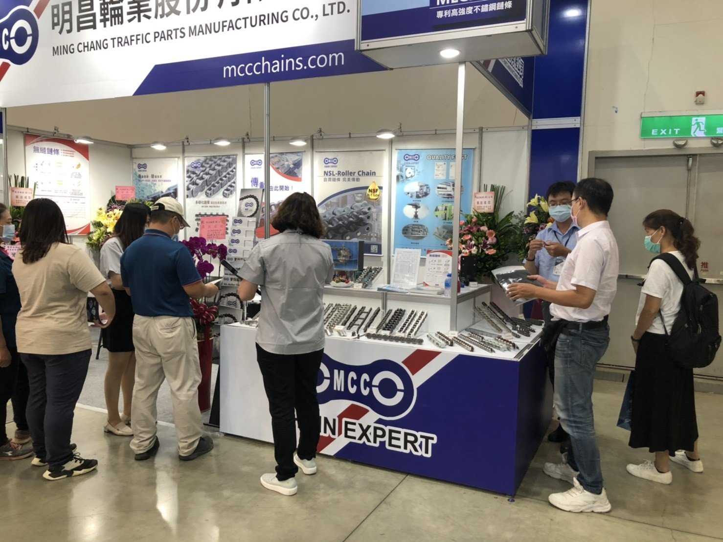 Visitors in MCC stand in 2020 Taipei Automation Exhibition (1)