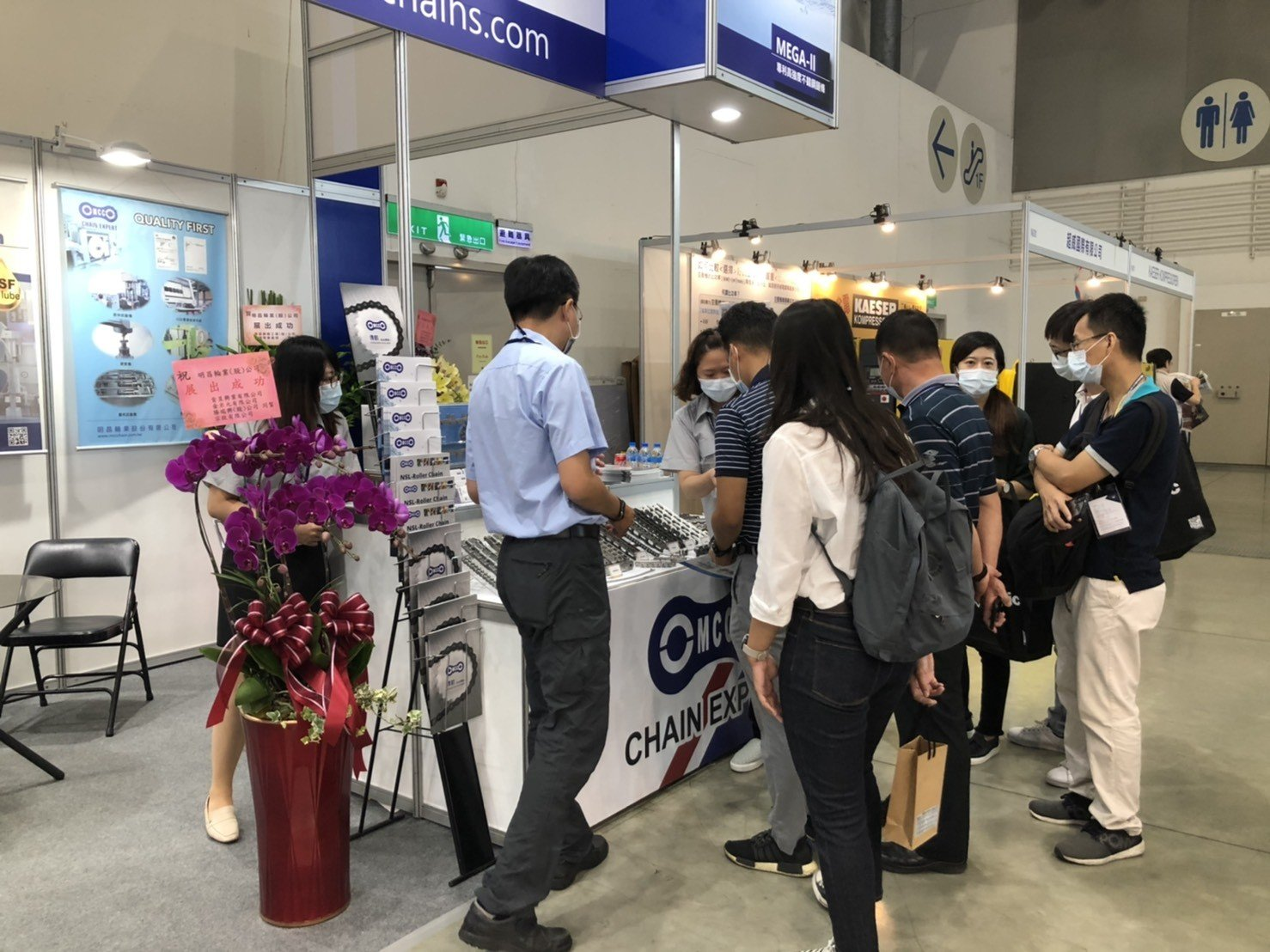 Visitors in MCC stand in 2020 Taipei Automation Exhibition (2)