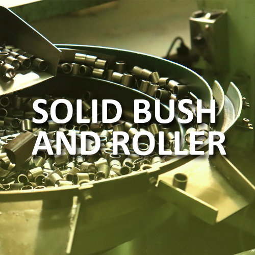 What is solid bush and roller chain?