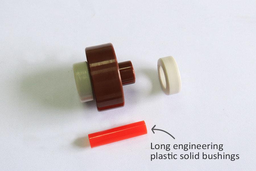 Long plastic bush