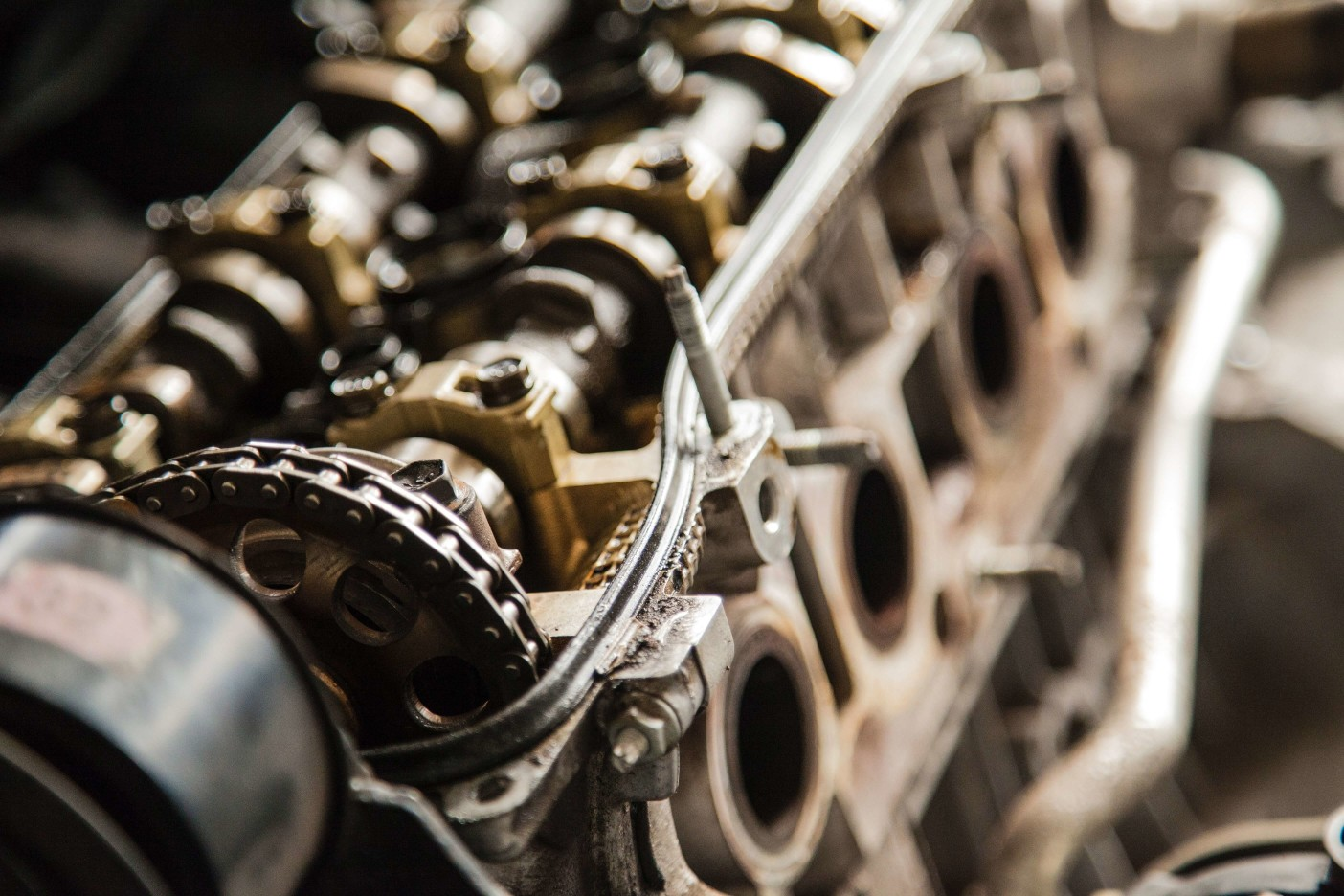Timing chain installed on engine